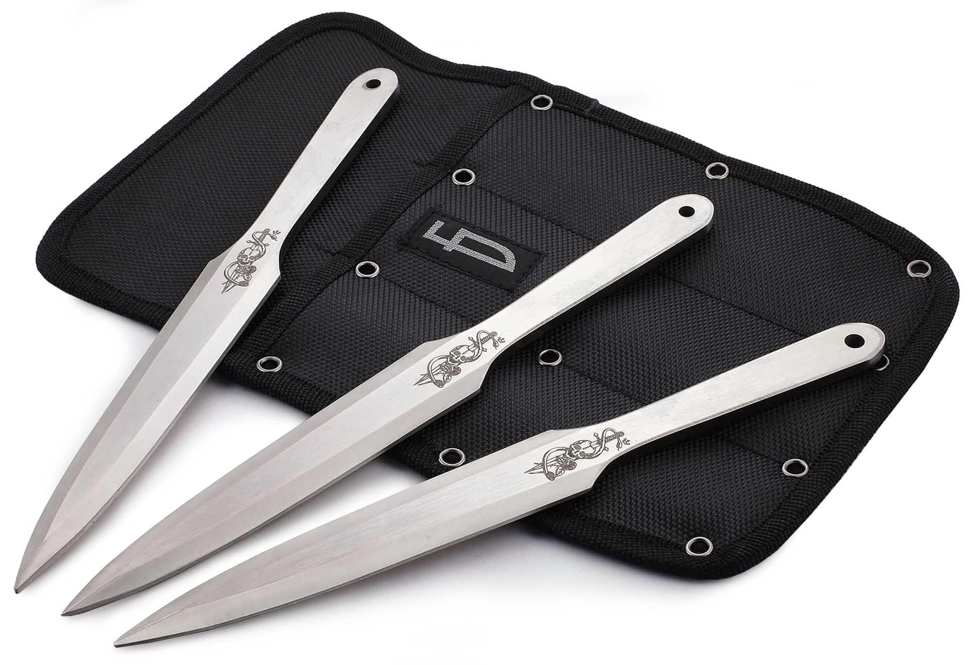Набор из 3 метательных ножей Череп, M-132SK