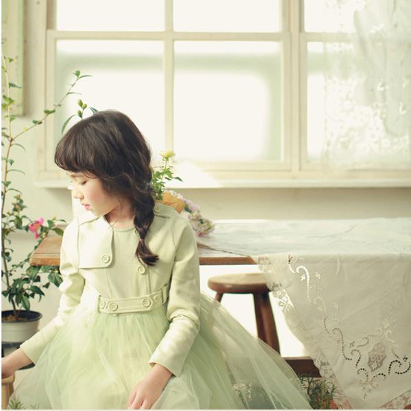 Детей девочек платье принцессы с длинным рукавом туту юбка