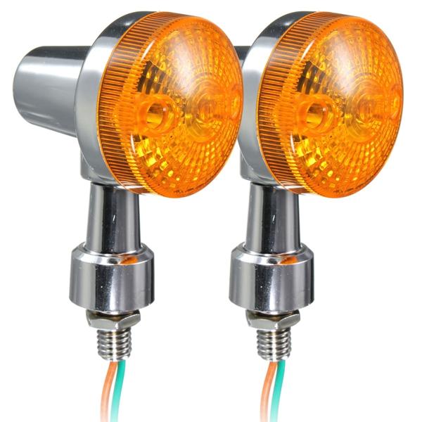 Шт универсальный мотоцикл сигнала поворота света лампы indicatior Янтарный шарик