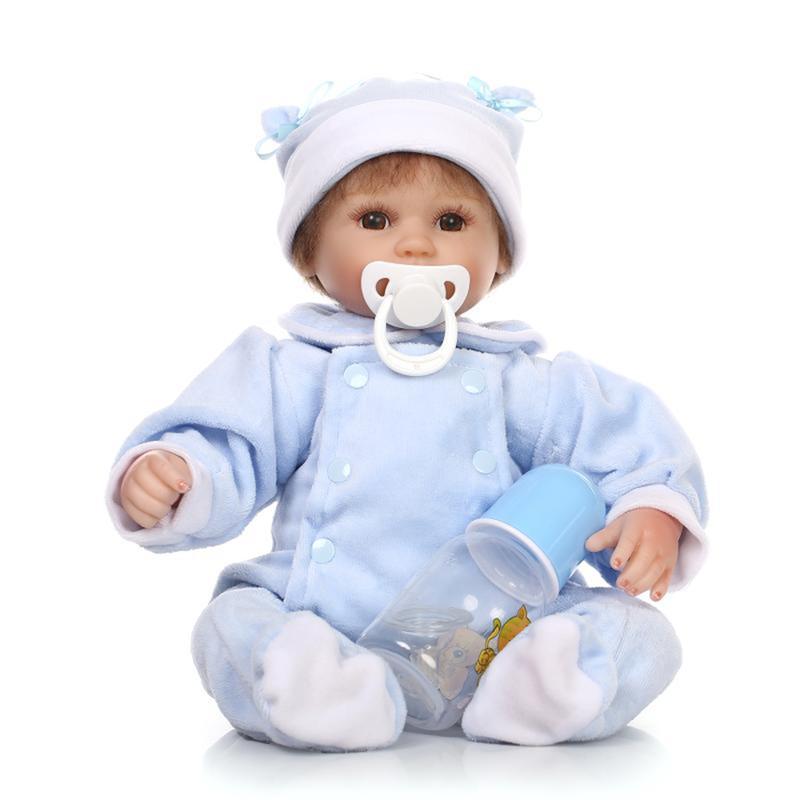 Дюймовый Reborn Baby DOLL Princess Платье Мягкий Силиконовый Реалистичный Кукла Baby Handmade Newborn Куклаs Toy