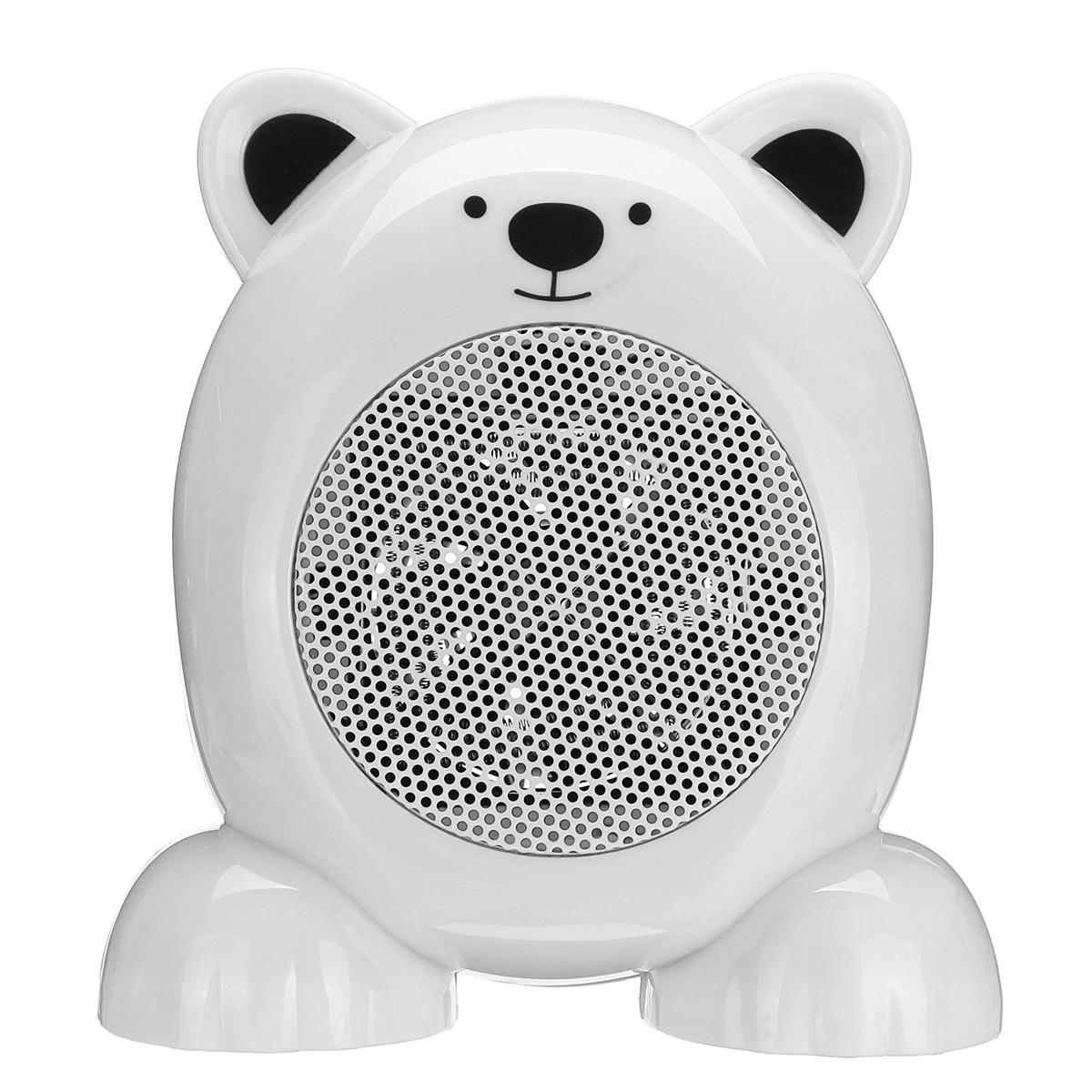 360WмультфильммедведьСтильНагреватель вентилятор портативный мини-глушитель электрический Нагреватель вентилятор