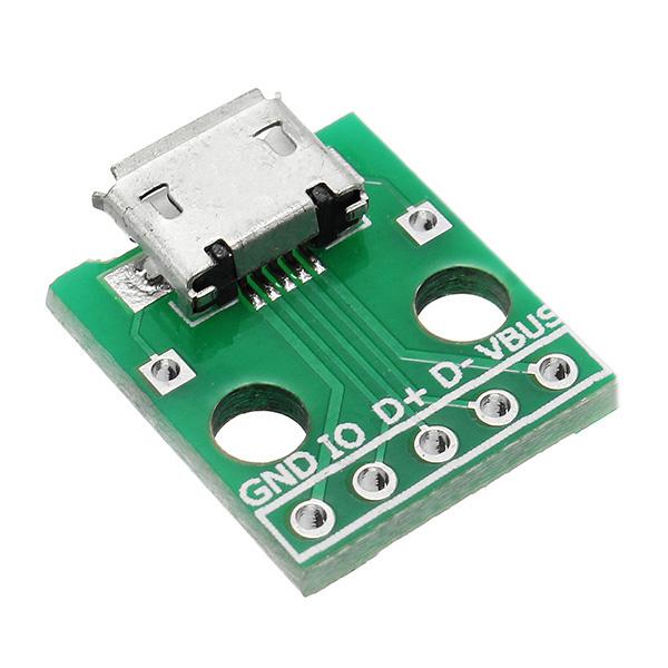 Для окунания Женский Разъем B Тип Микрофон Патч 5P для окунания 2,54 мм контактный разъем с адаптером Пайка