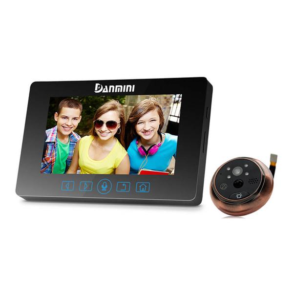 YB-43HD-MTЦифровая камера зрительного глазка зрения 2MP 4.3-дюймовое IR видео ночного видения PIR Дверной звонок