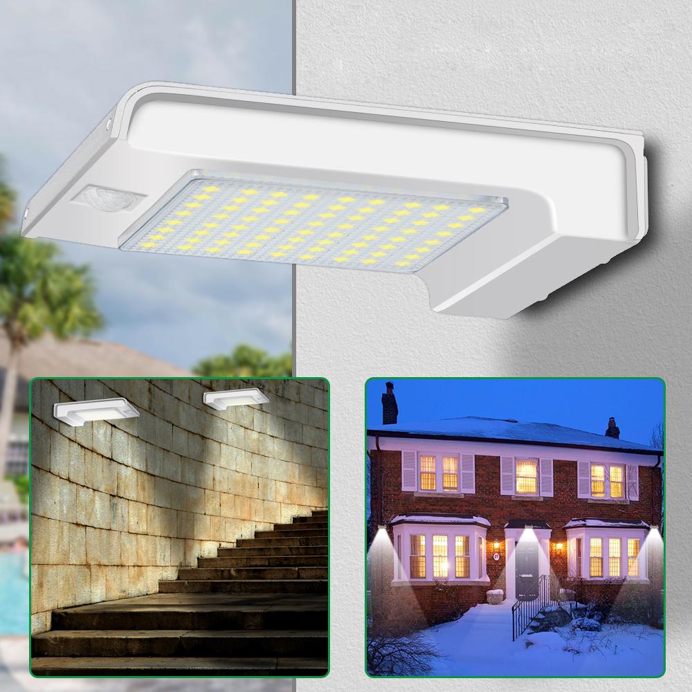 Солнечная Powered 72 LED PIR Motion Датчик Настенный светильник На открытом воздухе Сад Безопасность Лампа