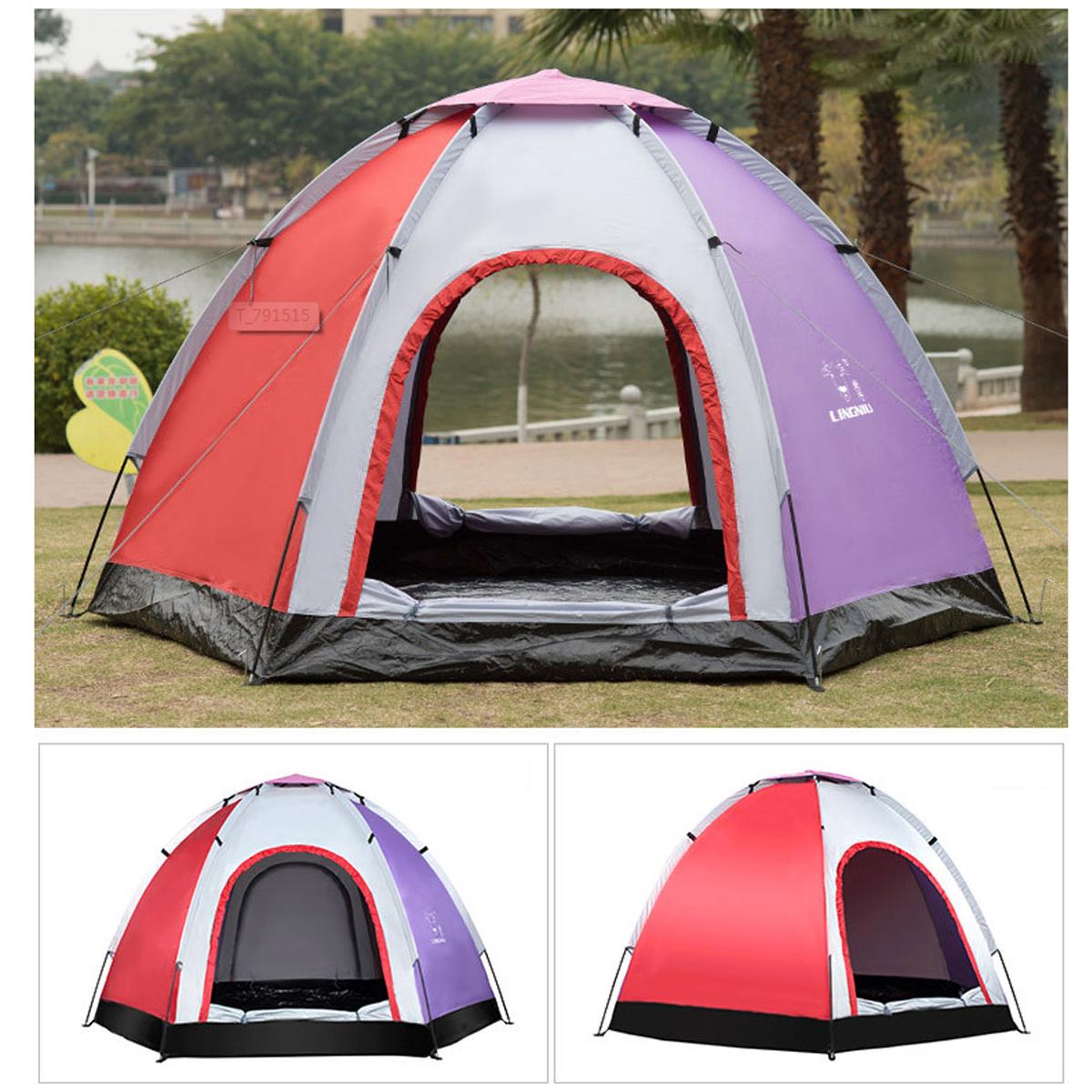 Наоткрытомвоздухе5-6человекPop-Up Кемпинг Палатка Водонепроницаемы УФ-доказательство Пляжный Приют для зонтика