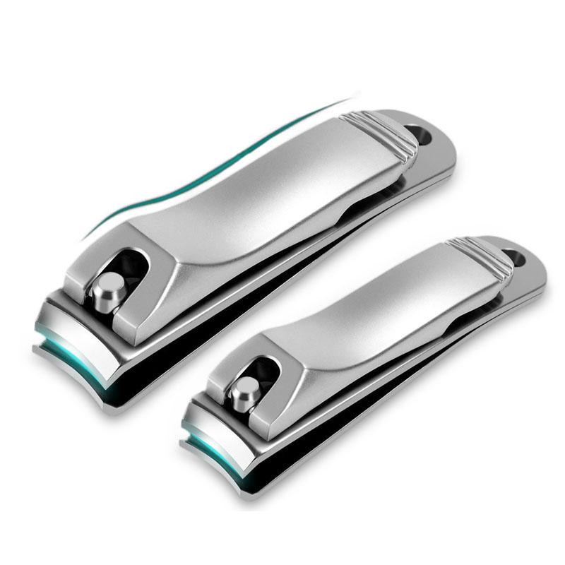 ® Из нержавеющая сталь Клипперы ногтей Фрезерный резак Инструмент для маникюра против брызг с файлом ногтей