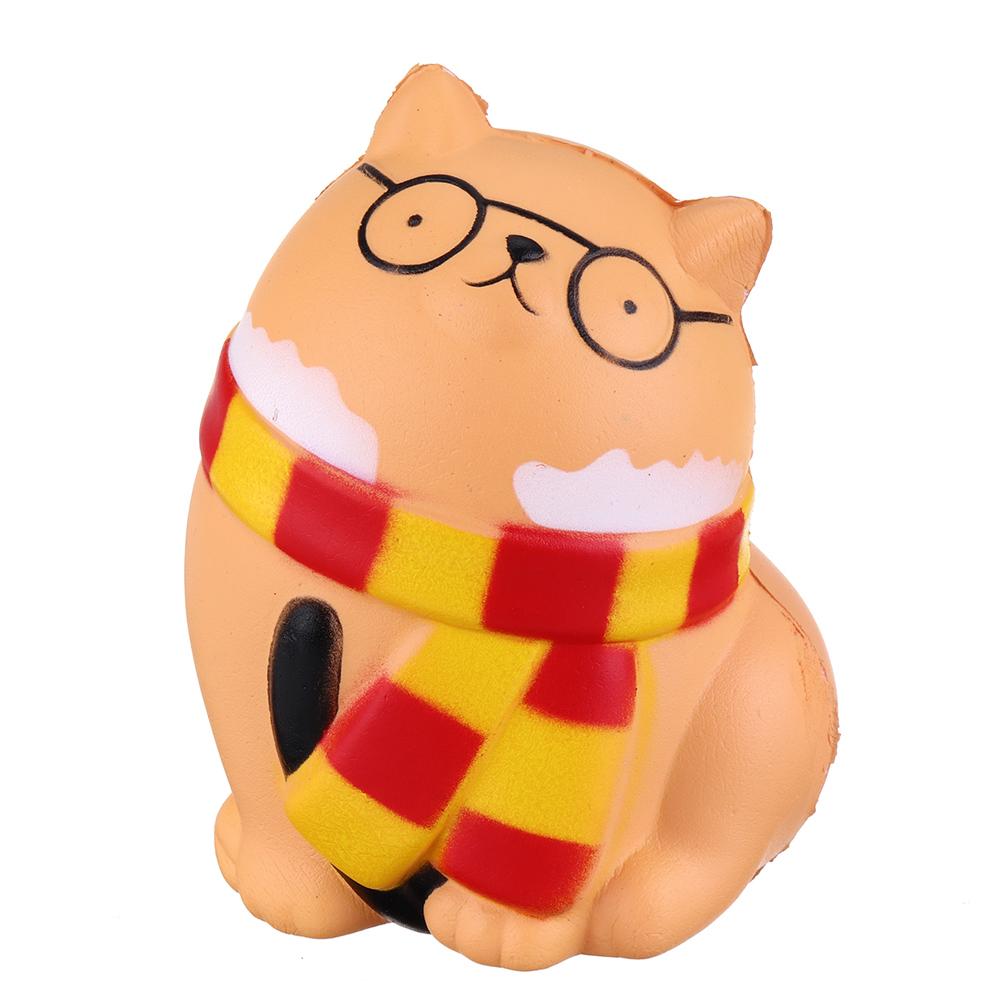 Очки Оранжевый Кот 11.5 СМ Медленно растущий отскок игрушки с упаковкой подарочный декор
