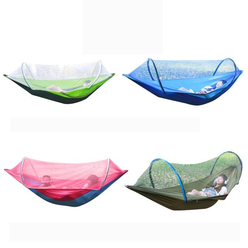 На открытом воздухе Двойной гамак подвесной качели кровать с москитной сеткой Кемпинг поход