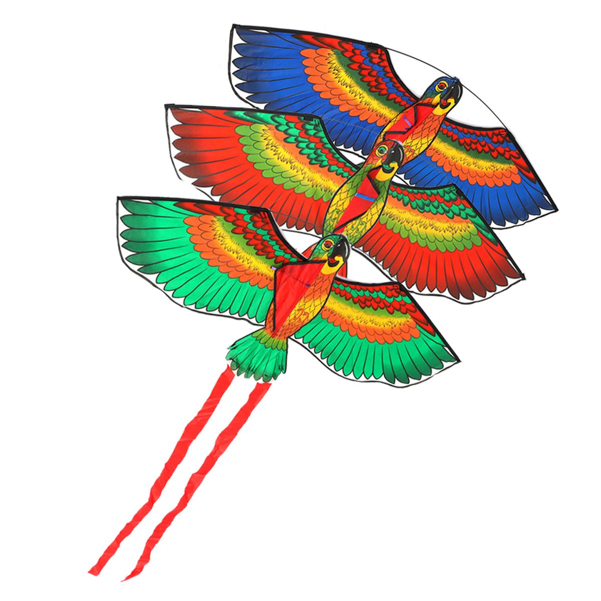 На#and#nbsp;открытом#and#nbsp;воздухе#and#nbsp;Пляжный#and#nbsp;Park#and#nbsp;Полиэстер Кемпинг Flying Kite Bird Parrot Steady String Spool для взрослых