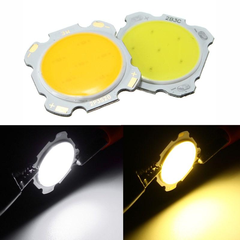 Чип Высокомощный LED шарик лампы света колбы лампы белый / теплый белый DC9-12V