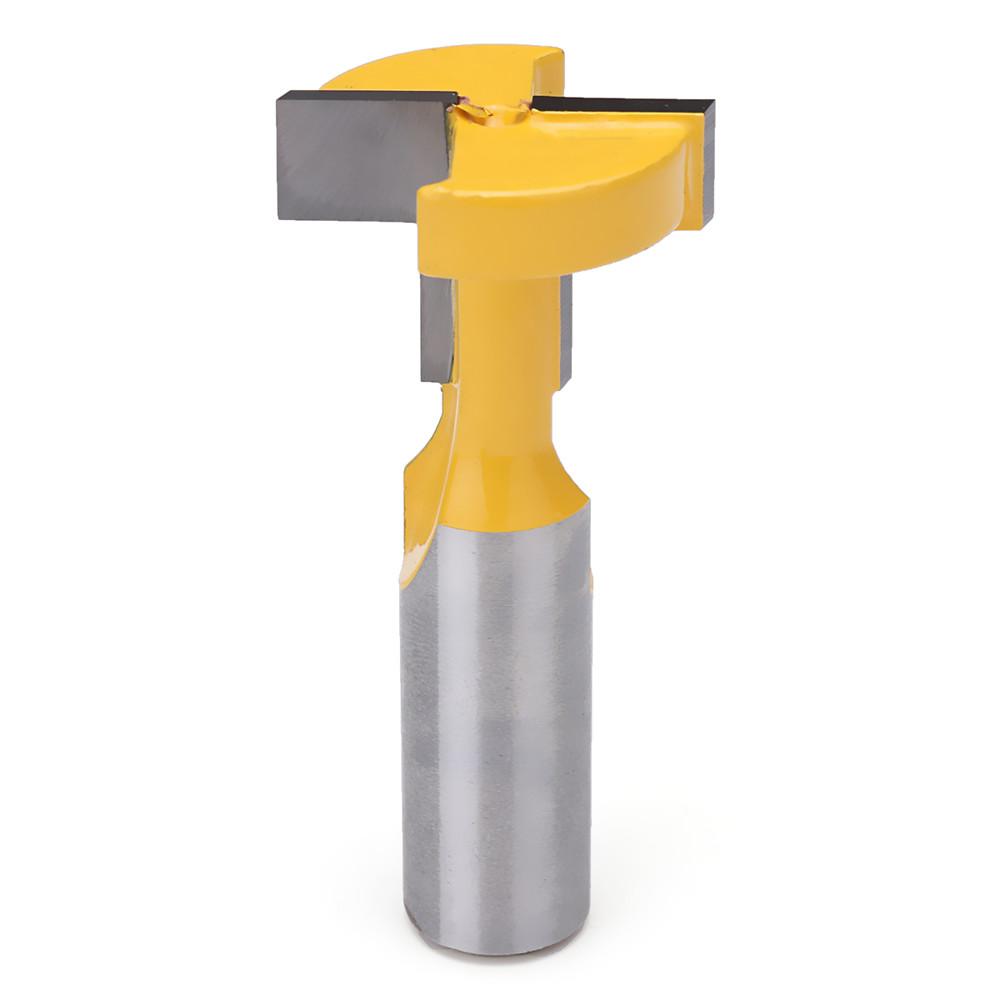 Дюймов Шлейф Т-образный шлиц Маршрутизатор Бит Т-образная прорезка Деревообрабатывающий фрезерный станок