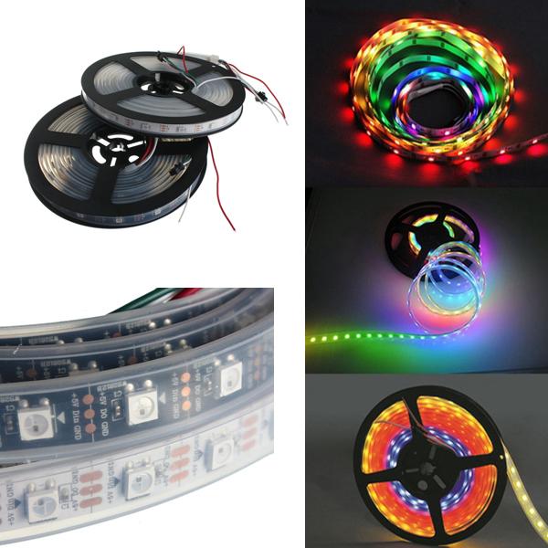 Водонепроницаемы IP67 150 LED Полоска света Dream Color Изменение индивидуального адресации DC 5V