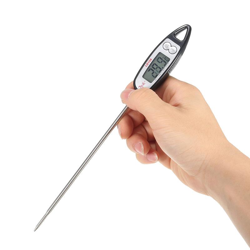 Цифровой Зонд Приготовление пищи Термометр Напиток Температура Датчик На открытом воздухе Барбекю Кухня Набор