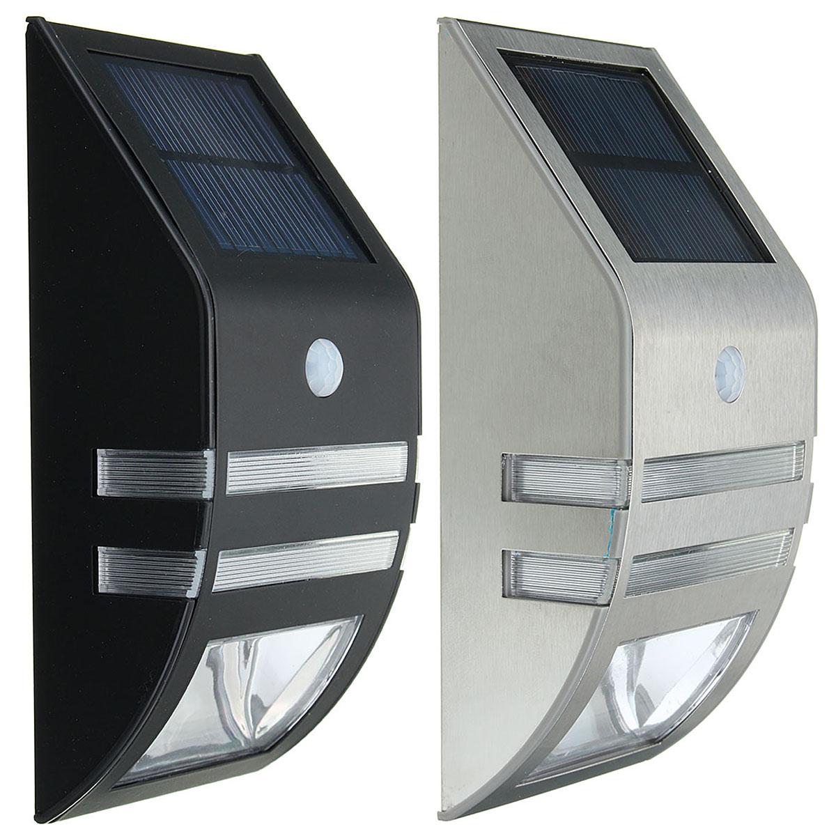 На открытом воздухе Водонепроницаемы 2V 0.4W Солнечная Power Lantern PIR Motion Датчик LED Настенный светильник Лампа