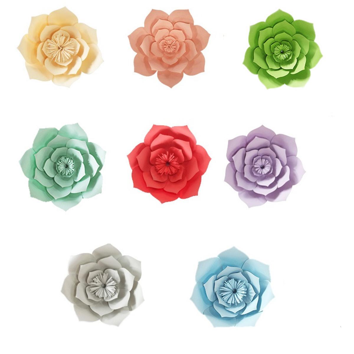 См бумажные цветы окно наклейки цветочный фон стены Свадебное день рождения украшения дома магазин