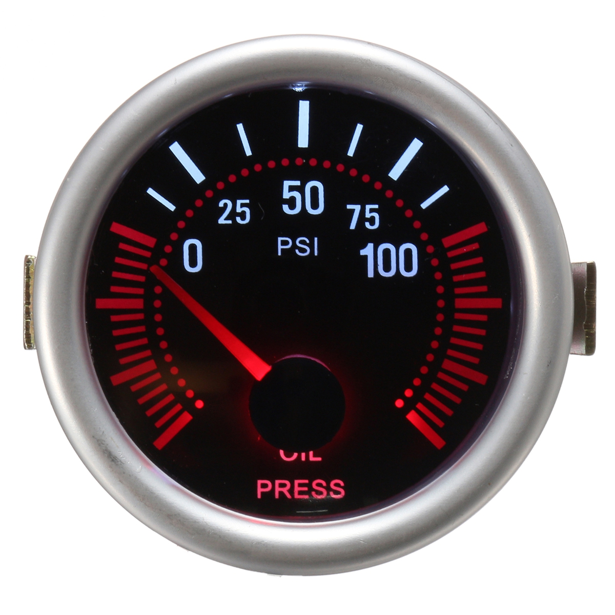 Универсальный 2 дюймов 52 мм Авто Авто LED LCD Цифровой Масло Датчик давления Манометр для лица Черный