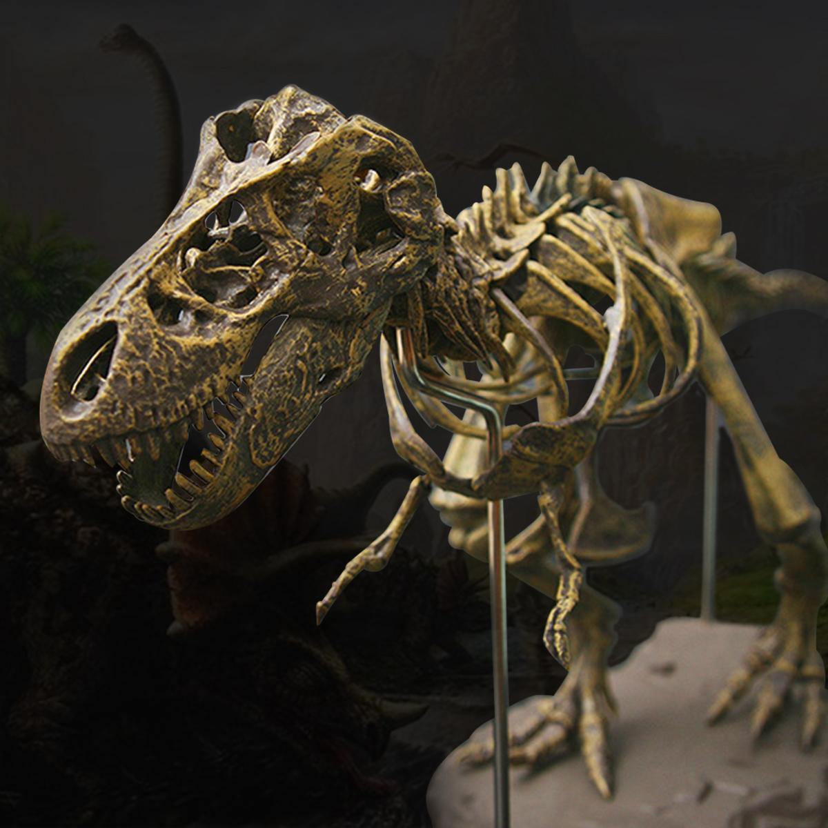 Юрские Динозавры Тиранозавр Рекс Скелет Trex Модель Животных Детские Игрушки Подарок