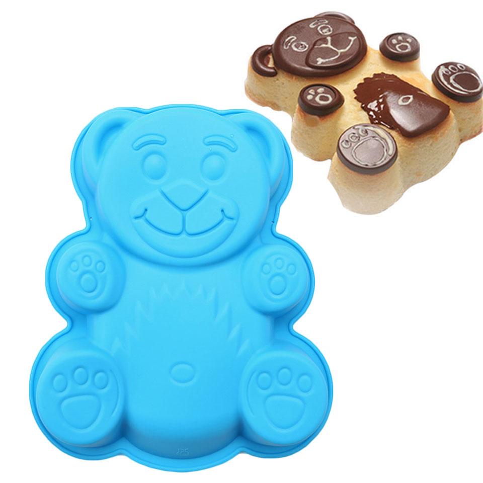Мультяшная#and#nbsp;форма#and#nbsp;медведя#and#nbsp;3D Силиконовый Выпечка выпечки торта Набор Выпечка для выпечки хлеба