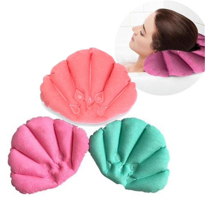 Ванная#and#nbsp;комната#and#nbsp;Продукты#and#nbsp;Home#and#nbsp;Spa Надувные подушки для тарелки Shell Shaped Шея Подушка для ванны Случайные цветные аксессуары
