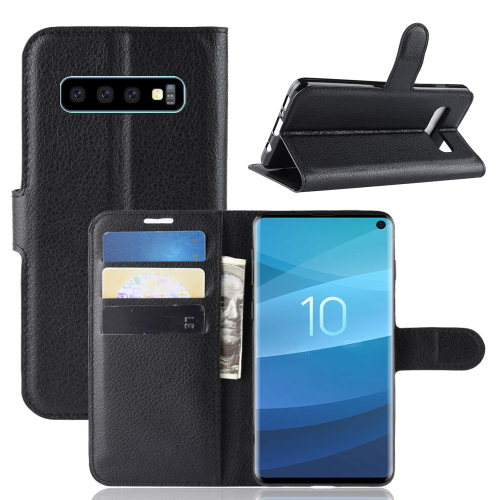 кожаныйбумажникKickstandФлипЗащитный Чехол Для Samsung Galaxy S10 6.1 дюймов