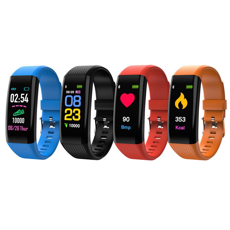 Цветной#and#nbsp;сенсорный экран Smart Bracelet IP67 Водонепроницаемы Шагомер Сердце Оценить кровяное давление сна Монитор Фитн