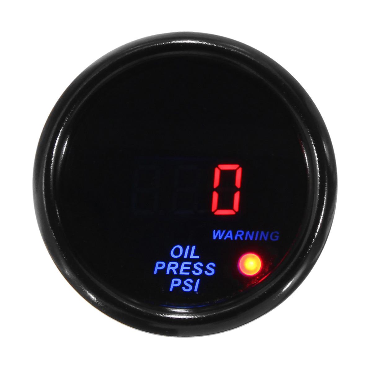 Дюймов 52 мм 0-140 PSI Масло Цифровой манометр LED Дисплей