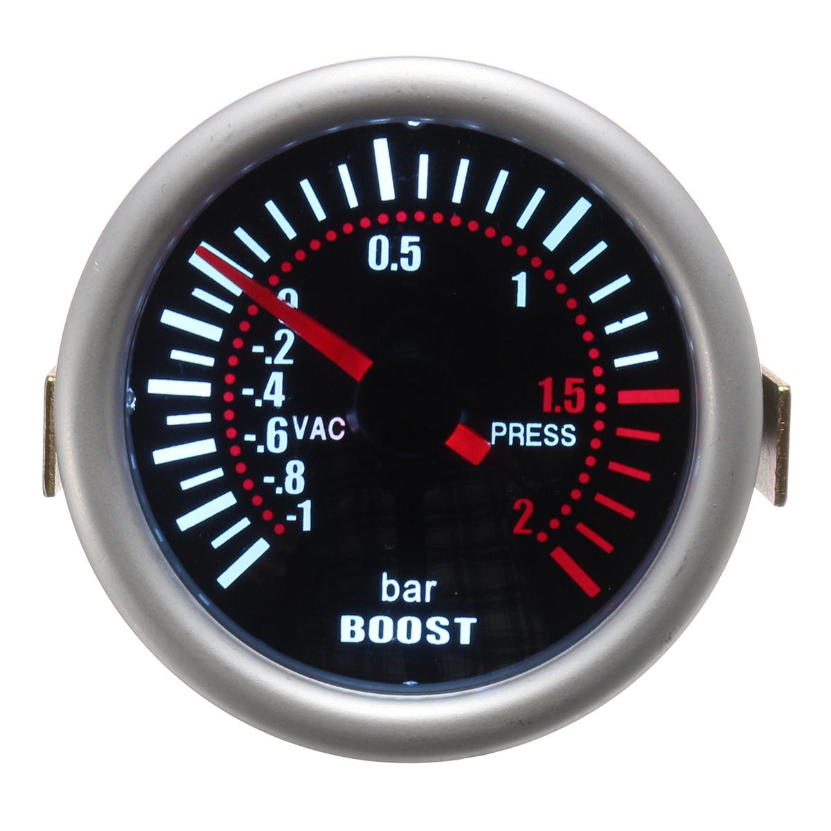Универсальный 2 дюймов 52 мм Авто Авто LED Цифровой дымоход Len Boost Bar Измеритель уровня 12V