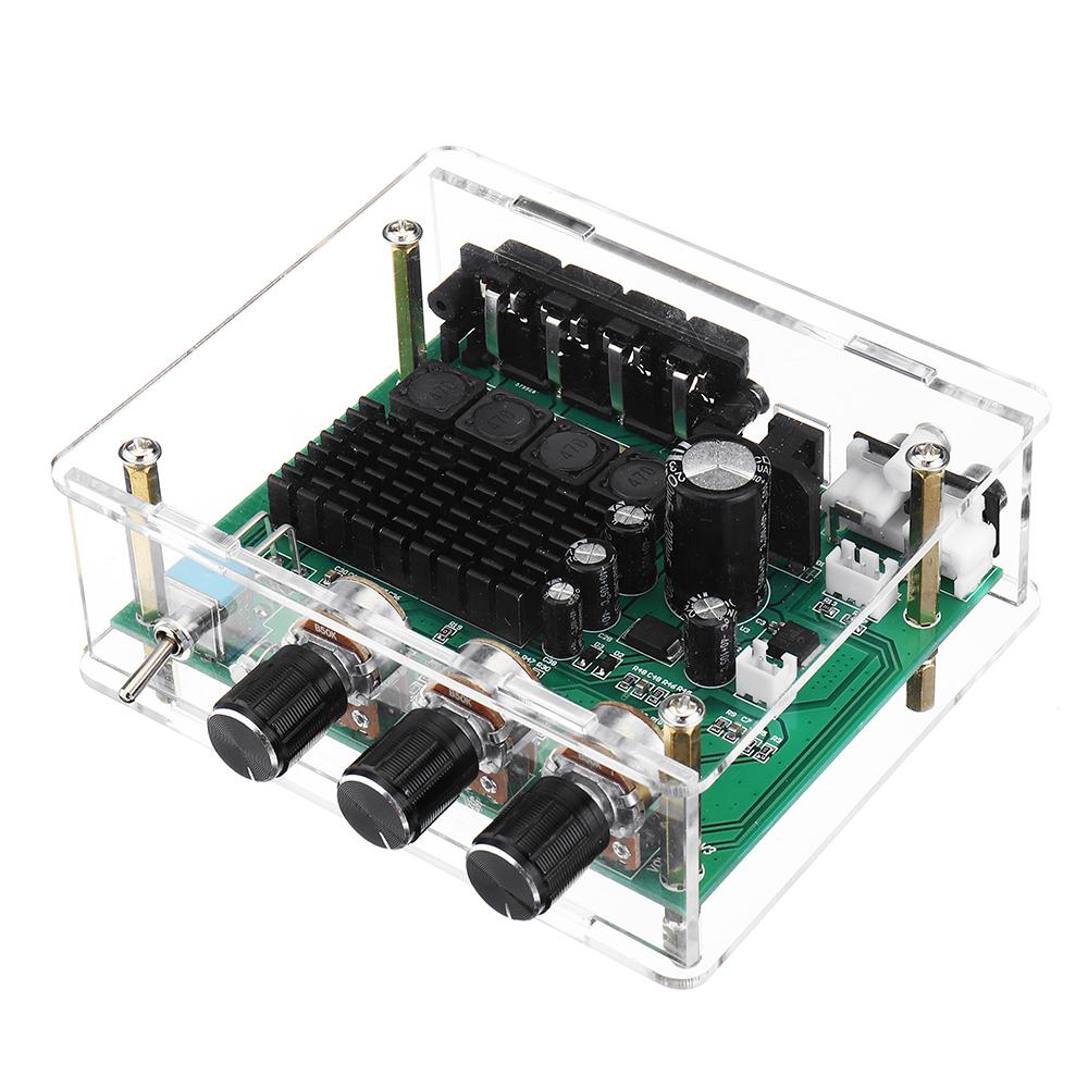 Вт Стерео Усилитель Аудио плата TPA3116 Цифровой Усилитель сабвуфер Предусилитель динамика с корпусом