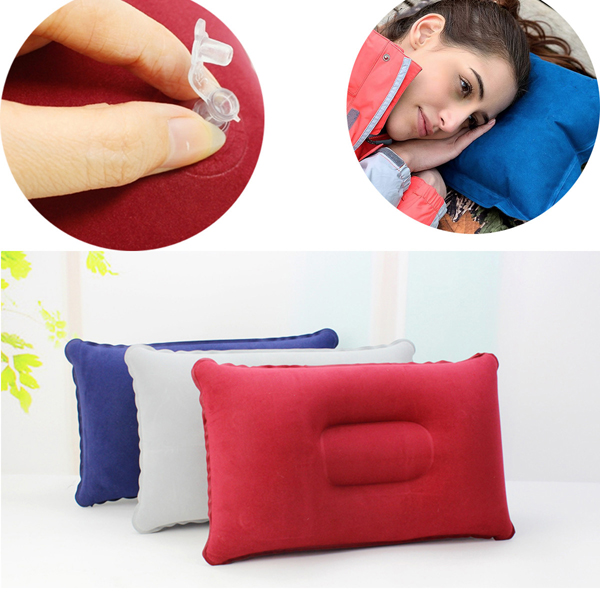 Складной двусторонний надувная подушка замша ткань подушки кемпинга домашний декор постельные принадлежности