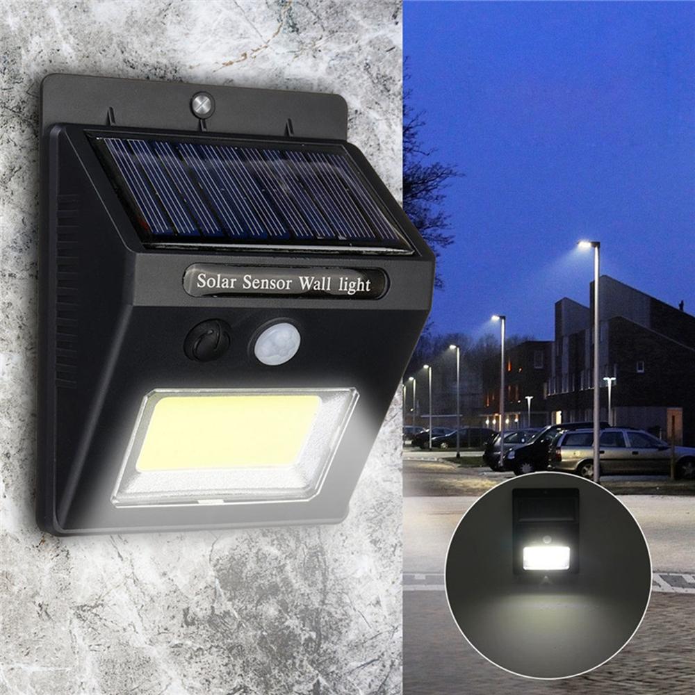 Солнечная Power Super Bright COB 24 LED PIR Motion Датчик Настенный светильник На открытом воздухе Беспроводной Водонепроницаемы Лампа