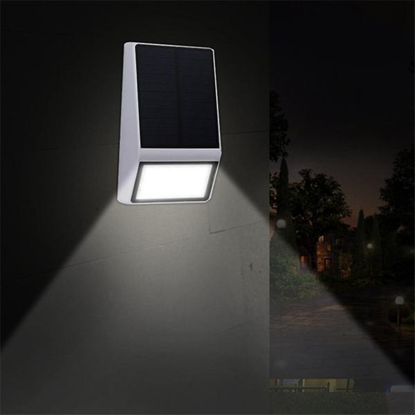 Солнечная Powered 15 LED PIR Motion Датчик Настенный светильник На открытом воздухе Сад Водонепроницаемы Безопасность Лампа