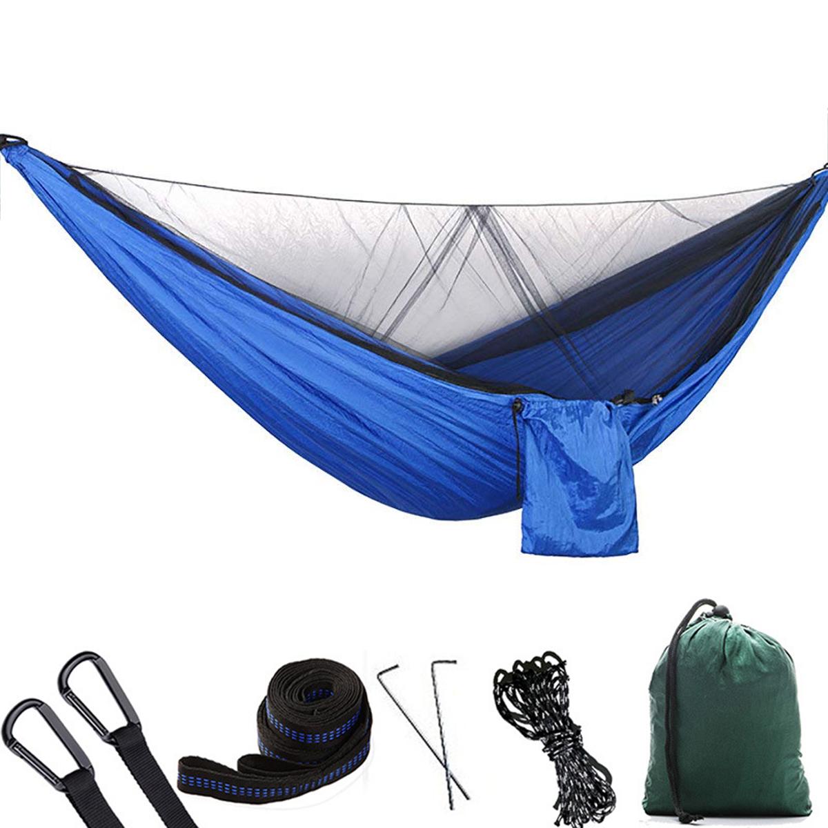 Персоны#and#nbsp;На#and#nbsp;открытом#and#nbsp;воздухе#and#nbsp;Кемпинг Гамак с москитной сеткой Высокопрочная парашютная ткань Подвесная кровать Охота Спящ
