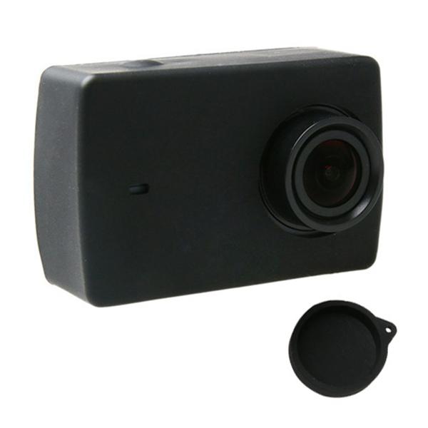 Силиконовый чехол защитный мягкий резиновый чехол для объектива для Xiaomi Yi II 2 4k спортивная камера