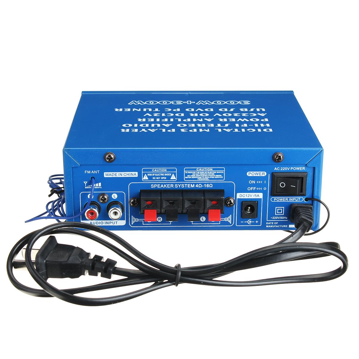 Усилитель Аудио Стерео USB Bluetooth Hi-Fi Дистанционное Управление