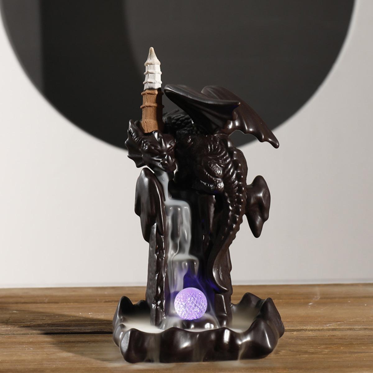 Керамический Возвратная курильница Курильница Дракон Flight Home Desktop Украшение Подарочная упаковка Чай Art