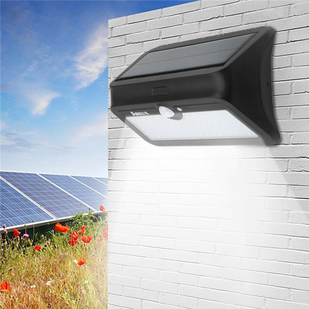 ® AL-SL 13 46 LED Солнечная Powered PIR Motion Датчик Настенный светильник Водонепроницаемы Безопасность На открытом воздухе Лампа