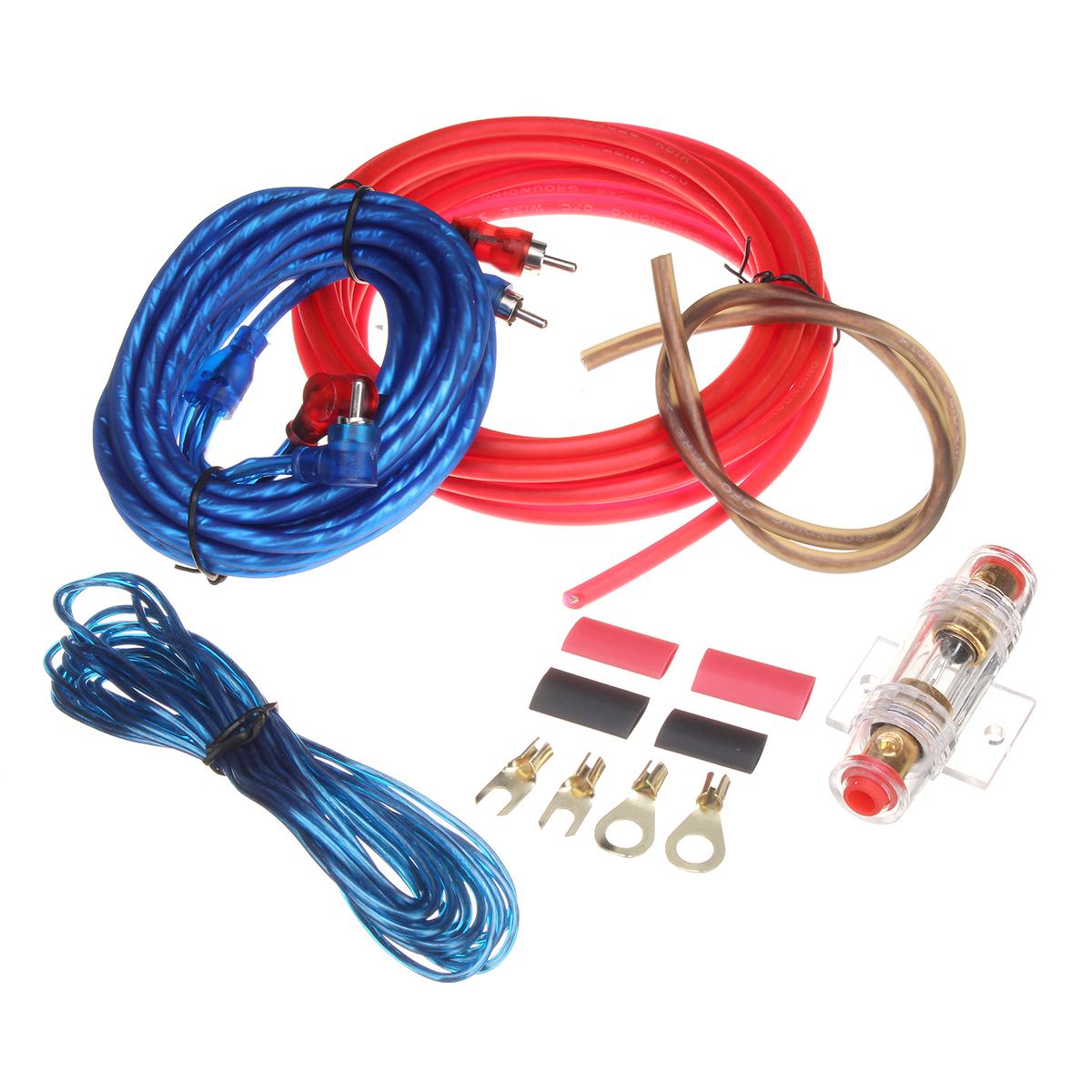 Авто Аудио сабвуфер Sub Усилитель AMP RCA Wiring Набор Power Audio Cable 10GA 4.5M