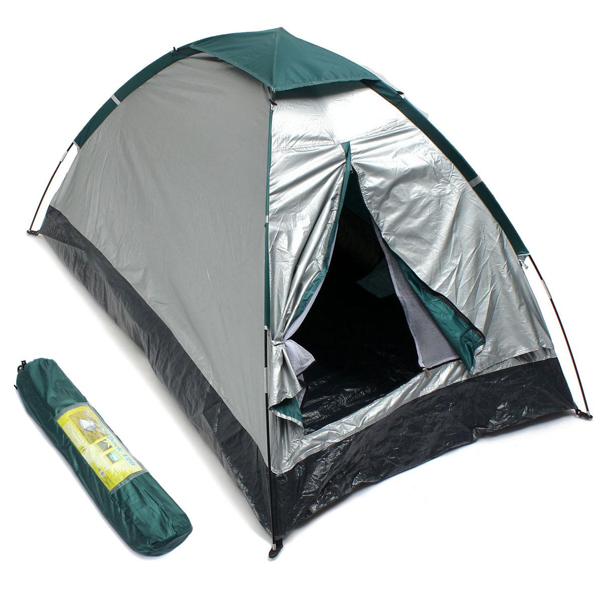 На открытом воздухе 2 чел. Двойной Кемпинг Палатка Одноместный слой Водонепроницаемы УФ Пляжный Тент с тенью