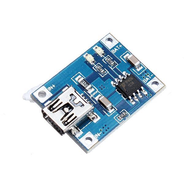 Шт мини-батарея лития 1a зарядки платы интерфейсный модуль USB зарядное устройство