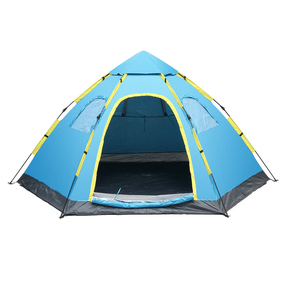 НаоткрытомвоздухеКемпинг5-8человек Автоматическая всплывающая палатка Водонепроницаемы UV Пляжный Семейный тент навеса