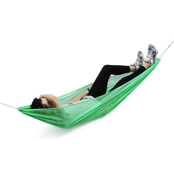 *130см1-2человек Ice Silk На открытом воздухе Гамак Nylon Веревка Чистая висячая спальная двуспальная кровать