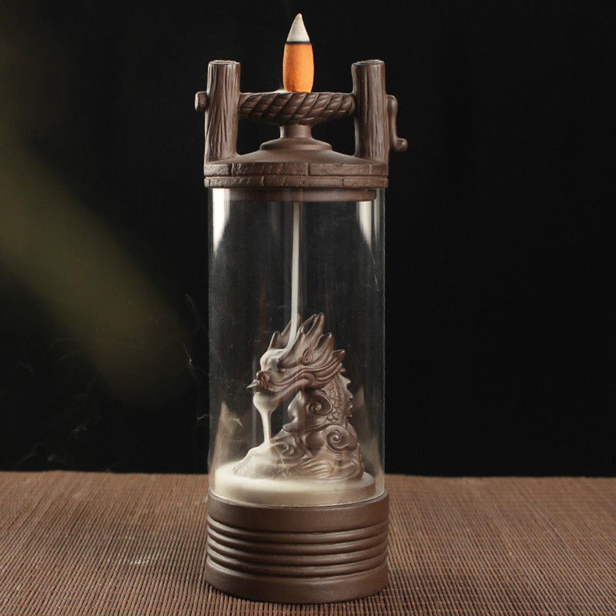 Дракон Курильница обратного потока Керамический Украшение для держателя кадило