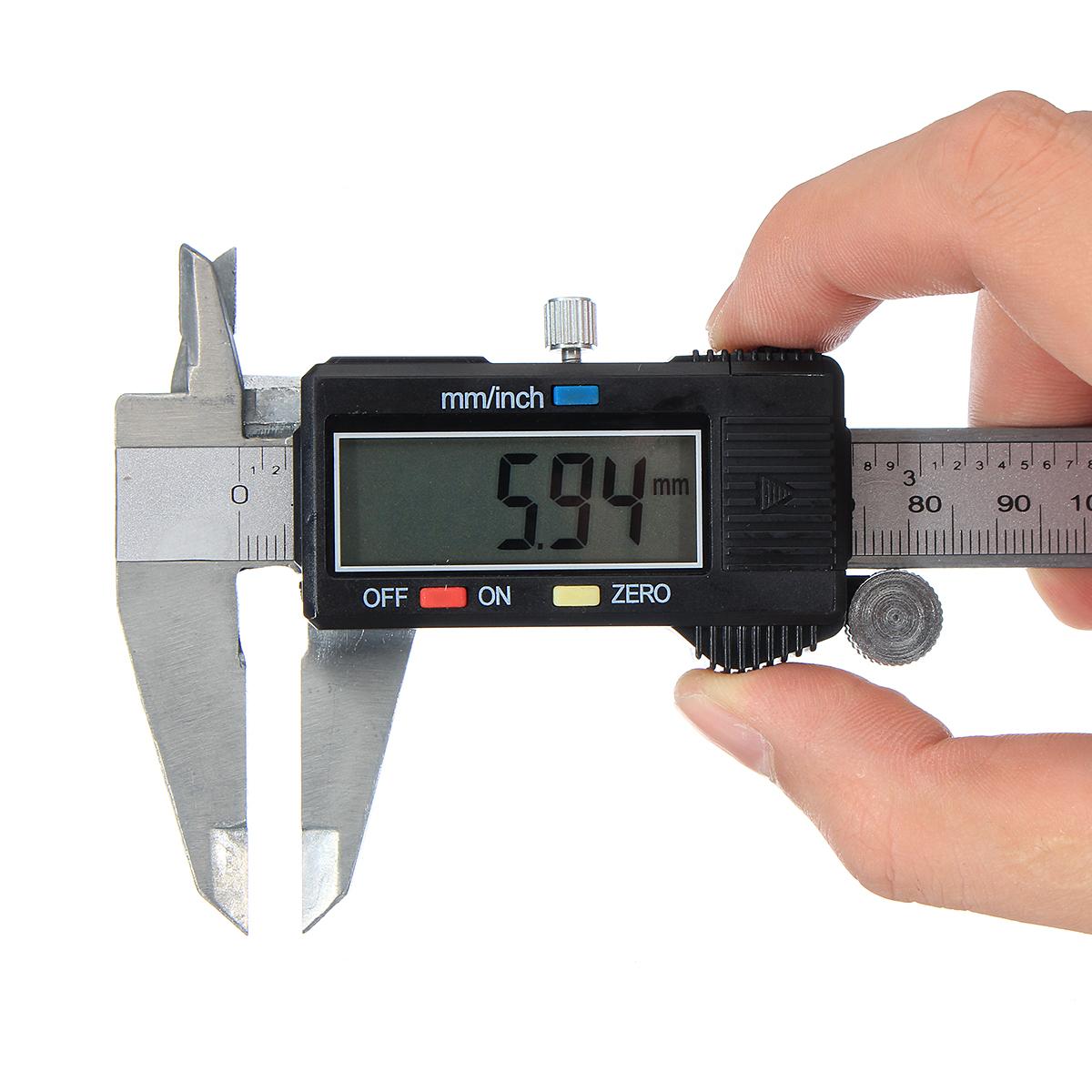 Цифровой суппорт LCD Нержавеющий электронный линейный микрометр Измерение 0-6inch 150 мм