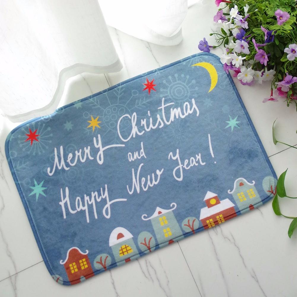 См рождества фланель пены бархата памяти ковер впитывающий коврик для ванной нескользящей мягкий пол ковровое покрытие