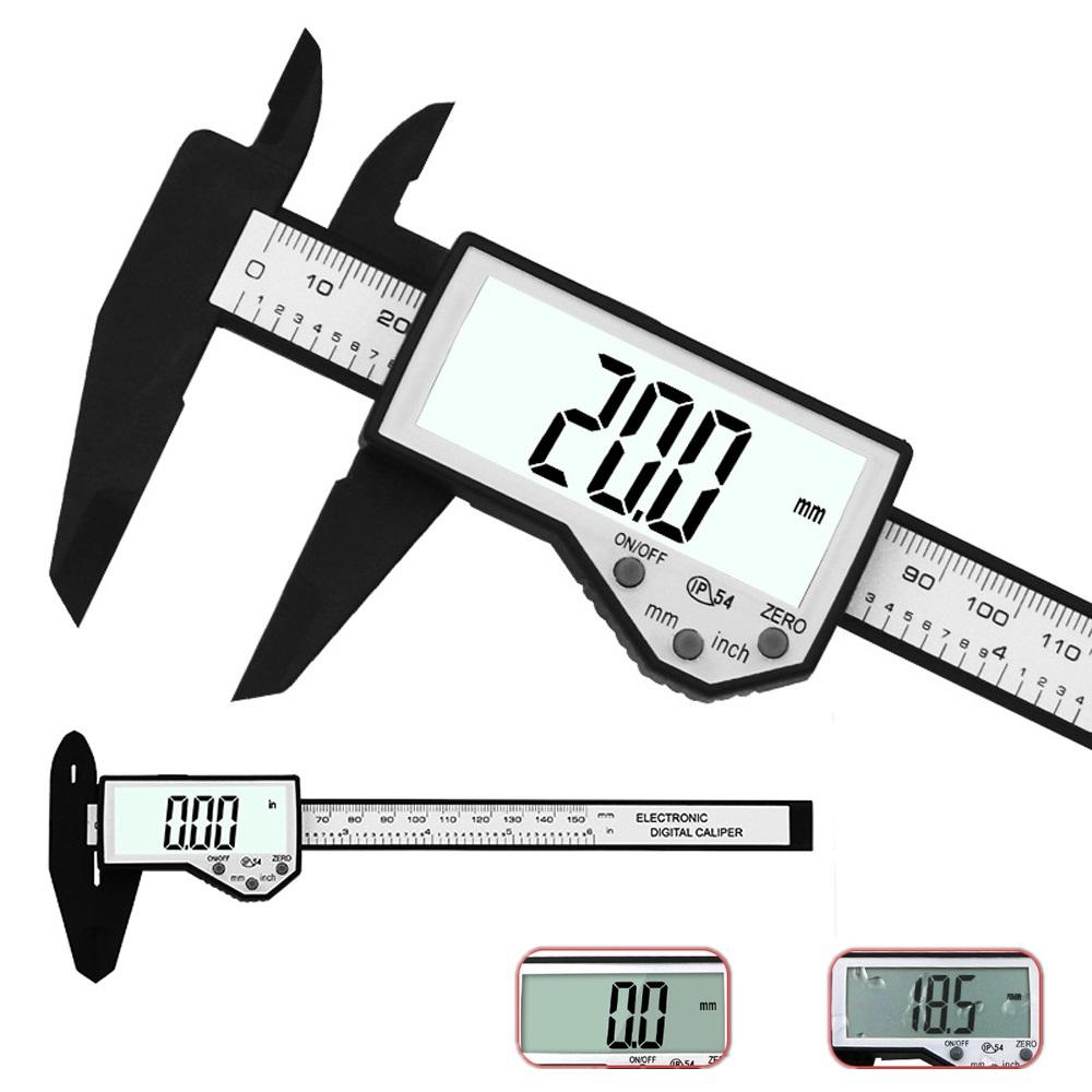 Цифровой суппорт 6-дюймовый 150 мм Электронный Водонепроницаемы IP54 Цифровой штангенциркуль LCD Экран Дисплей Микрометр Измерительный суп
