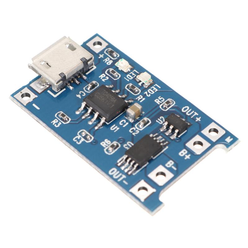 Обновление версии 3.2V / 3.7V / 4.2V USB Li-ion Батарея Плата модуля зарядного устройства с защищенной функцией