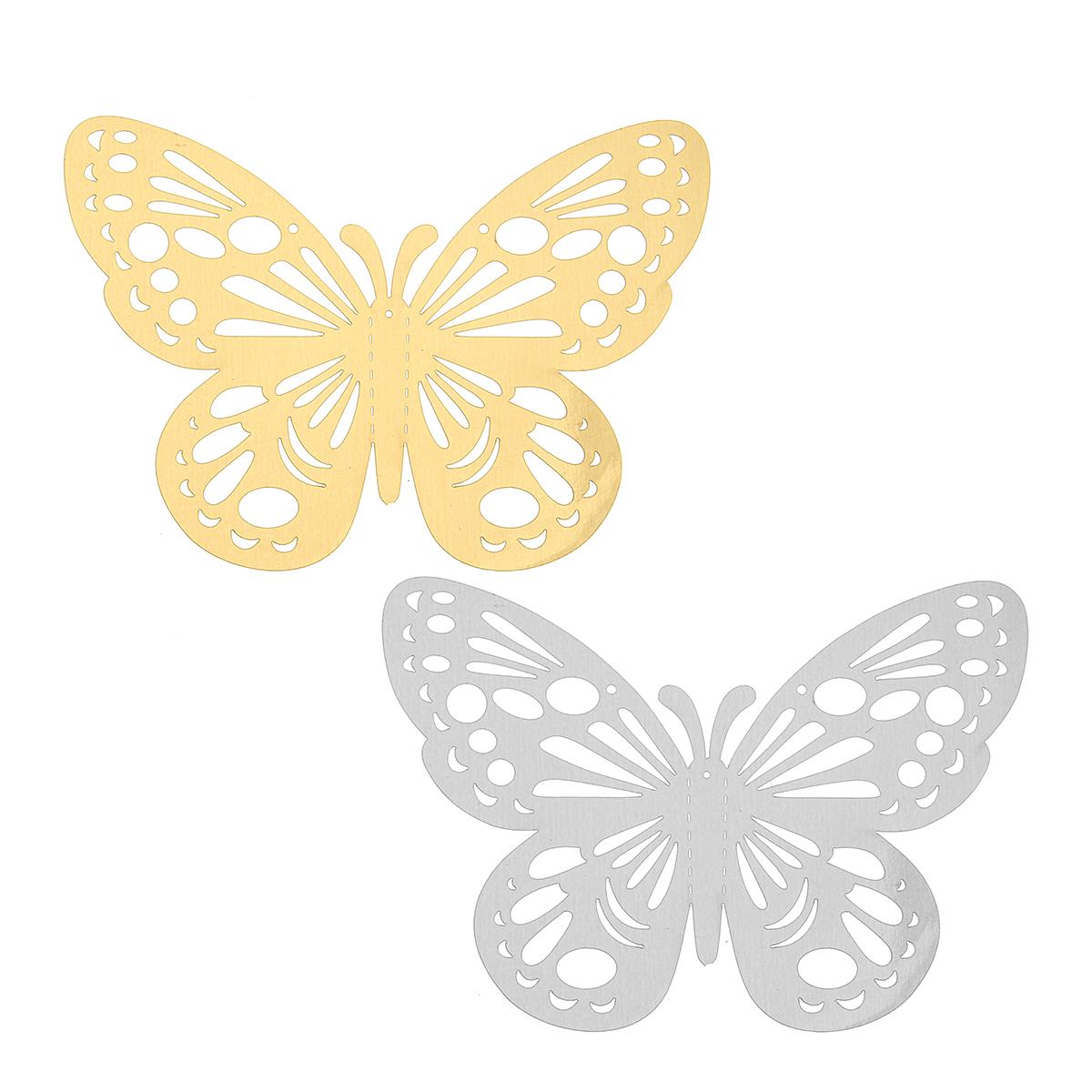 Шт 3D бабочка стикер стены домашнего декора DIY бабочка стикер холодильник партия Свадебное номер декор