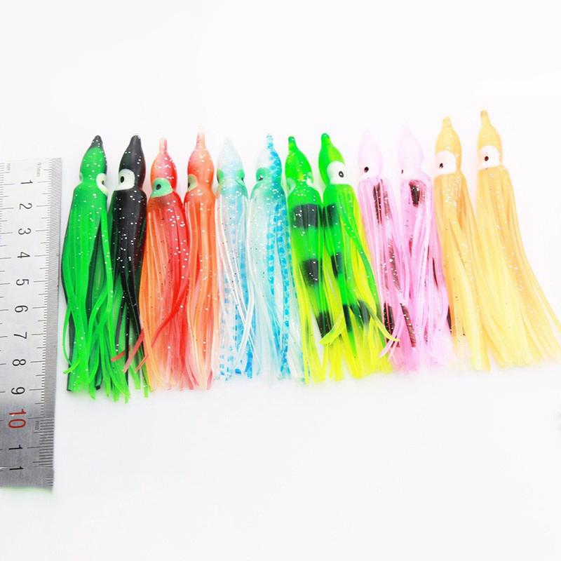 Шт 10CM Мягкие пластиковые прикормы Троллинг Squid Юбка приманки Приманка рыболовные снасти инструменты