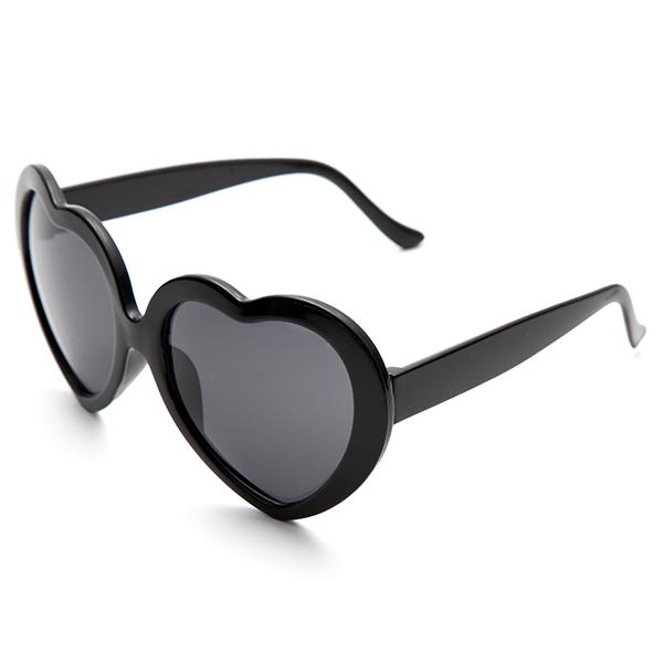 Ретро форма смешно сердце любовь анти-UVA UVB солнцезащитные очки и