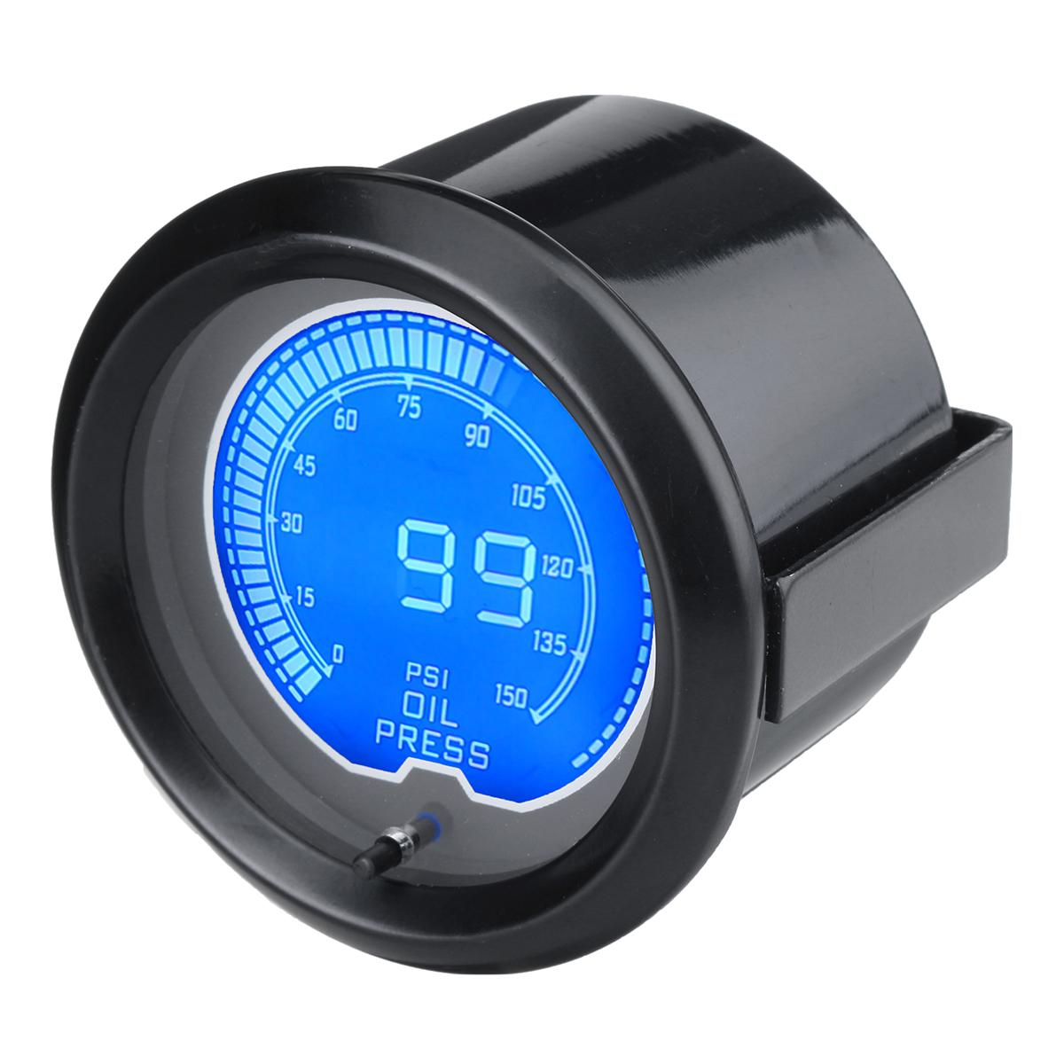 Универсальный 2-дюймовый 52 мм Масло Пресс манометр цифровой LED 7Color 150 PSI метр